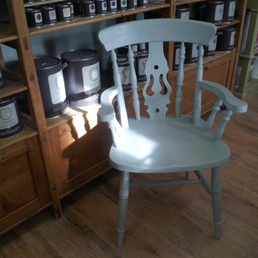 Chair painted in Eiderdown claypaint and finished with earthborn Furniture Wax