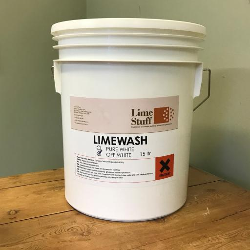 Off White Limewash supplied in 15ltr tubs