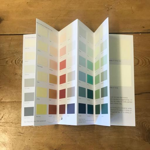 Earthborn claypaint colourcard